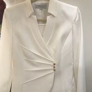 Tahari by Arthur S. Levine 2PC Ivory White  Suit